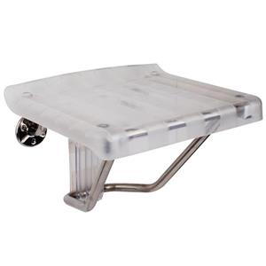 DreamLine Shower Seat - 15-in x 20-in - Plastic - Chrome