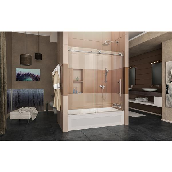 DreamLine Enigma-X Shower Door - 59-in - Glass - Stainless steel