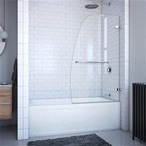 DreamLine Aqua Uno 34.31 po W Porte de baignoire - Nickel