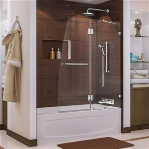 DreamLine Aqua Lux 48 po W Porte de baignoire - Chrome