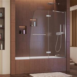 DreamLine Aqua Ultra Shower Door - 48-in x 58-in - Glass - Chrome