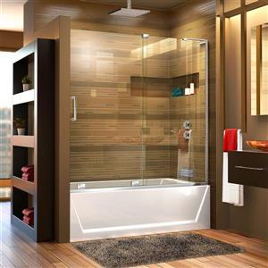 DreamLine Mirage-X Shower Door - 60-in - Glass - Chrome