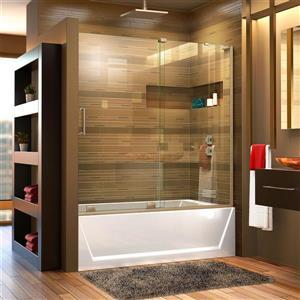 DreamLine Mirage-X Shower Door - 60-in - Glass - Nickel