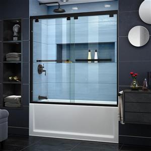 DreamLine Encore Shower Door - 60-in x 58-in - Glass - Black