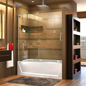 DreamLine Mirage-X Shower Door - 60-in x 58-in - Glass - Chrome