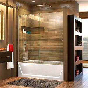 DreamLine Mirage-X Shower Door - 60-in x 58-in - Glass - Nickel