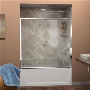 DreamLine Visions Shower Door - 60-in x 58-in - Glass - Chrome