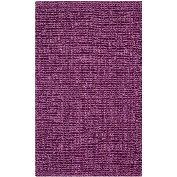 Safavieh Natural Fiber Solid Rug - 3' x 5' - Purple