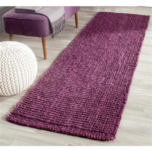 Safavieh Natural Fiber Solid Rug - 2' x 8' - Purple