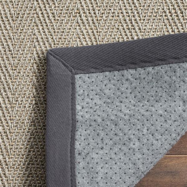 Safavieh Natural Fiber Border Rug - 4' x 6' - Brown/Gray