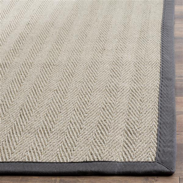 Safavieh Natural Fiber Border Rug - 3' x 5' - Brown/Gray