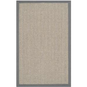 Safavieh Natural Fiber Border Rug - 3' x 5' - Brown/Gray