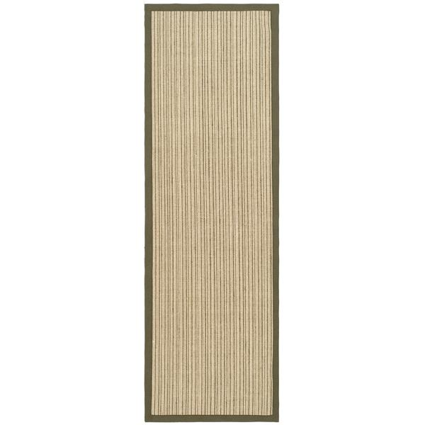 Safavieh Natural Fiber Border Rug - 2' x 8' - Green