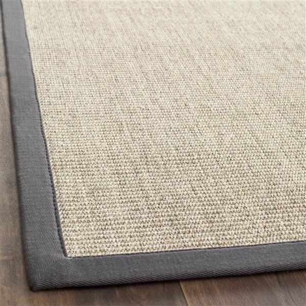 Safavieh Natural Fiber Border Rug - 4' x 4' - Marble/Gray