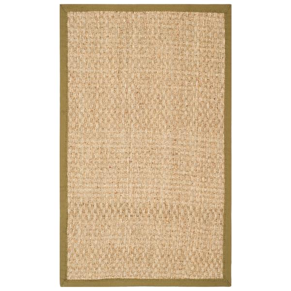 Safavieh Natural Fiber Border Rug - 3' x 5' - Olive