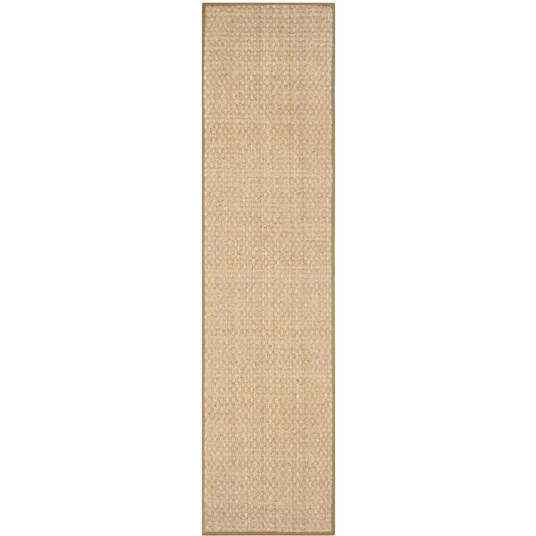 Safavieh Natural Fiber Border Rug - 2' x 10' - Olive