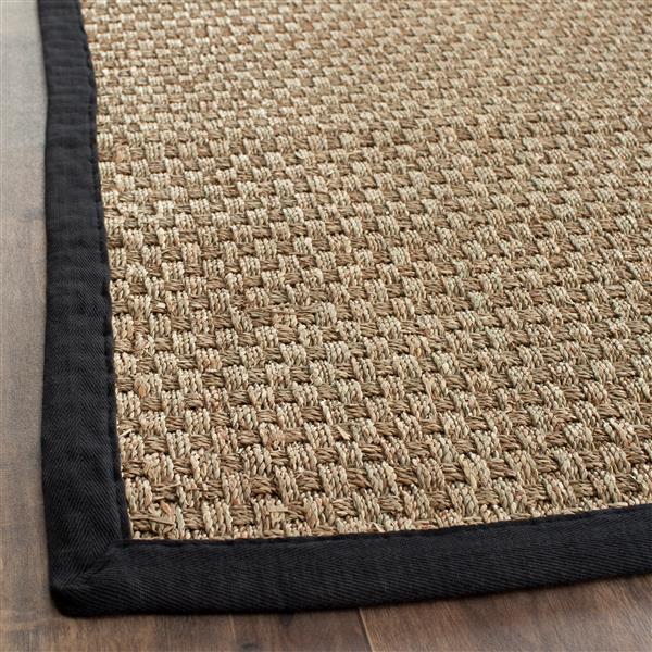Safavieh Natural Fiber Border Rug - 2' x 6' - Black