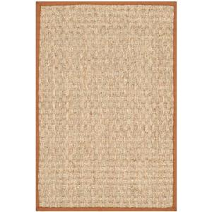 Safavieh Natural Fiber Border Rug - 2' x 4' - Brown