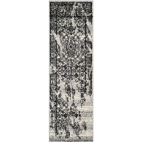 Safavieh Adirondack  Rug - 2' x 10' - Silver/Black