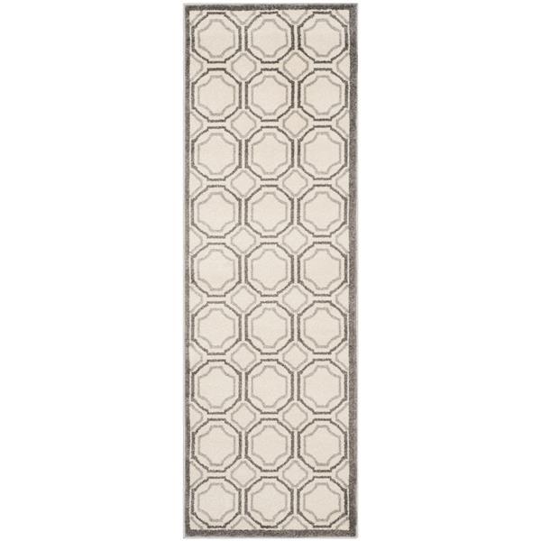 Safavieh Amherst Geometric Rug - 2' x 7' - Ivory/Gray