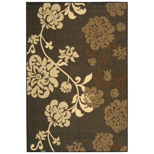 Safavieh Courtyard Floral Rug - 8' x 11' - Black/Brown