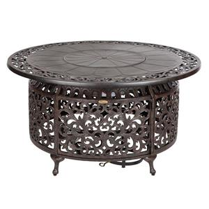 Pauline Convertible Fire Pit Table - Bronze - 41