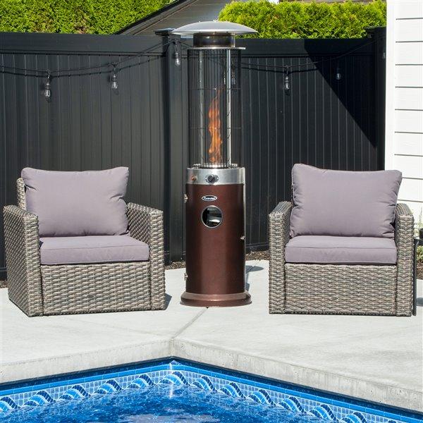 Paramount Venturi Spiral Flame Outdoor Heater - Bronze - 40 000 BTU