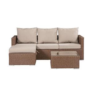Evan Outdoor Sofa Set with storage - Beige