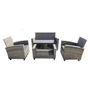 Kent Outdoor Conversation Set - 4-Piece - Grey