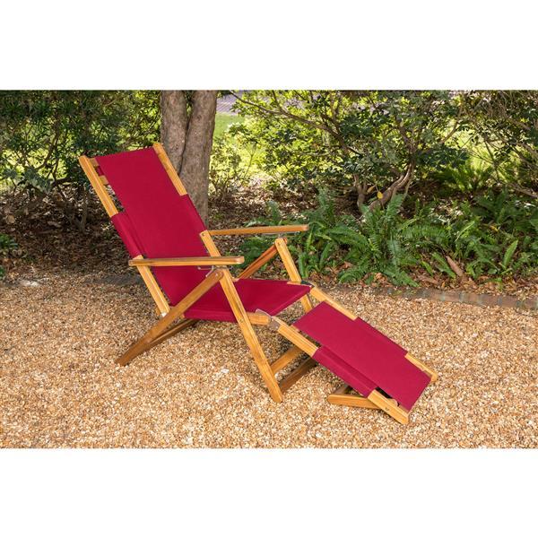 Chaise longue pour l'extérieur, Rouge