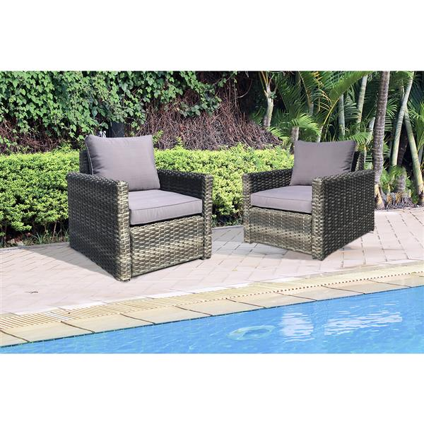 Patio Flare Whitney Outdoor Chair - Pack of 2 - Grey