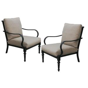 Grayson Aluminum Chair with Sunbrella Cushion - Pack of 2