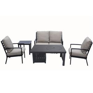Ensemble de conversation 4 pièces avec table foyer