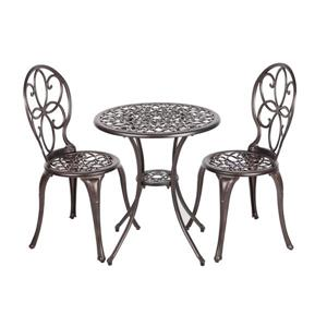 Ensemble bistro en aluminium Rosalie pour le patio, Bronze