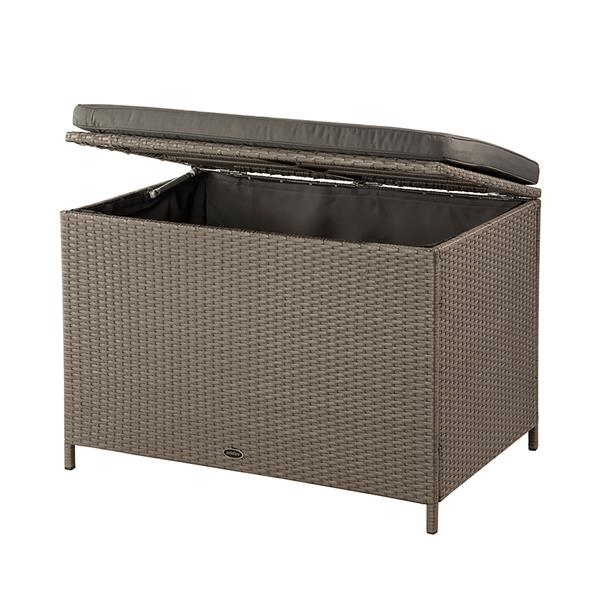 Patio Flare Ferrara Deck Storage Box - Brown Wicker & Dark Grey - 35""
