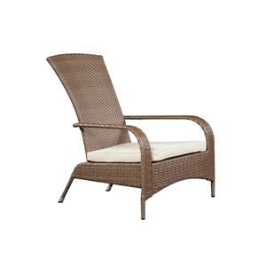 Confortable fauteuil haut Muskoka en osier -Brun caramel