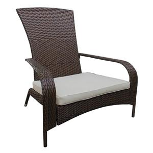 Patio Flare Wicker Muskoka Outdoor Chair - Dark Brown and Beige
