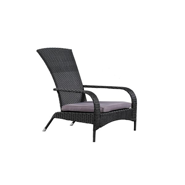 Wicker Muskoka Chair - Black