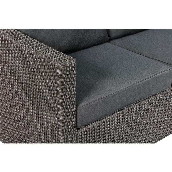 reputable site 660e1 752de PATIO FLARE Evan 3-Piece Sofa Set - Dark Grey PF-CS308-GY | RONA