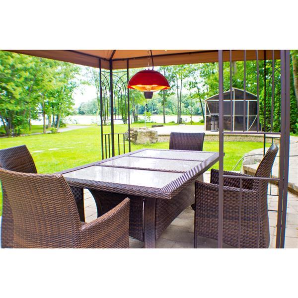 Chauffe-terrasse infrarouge EnerG+, Rouge, 1500 watts