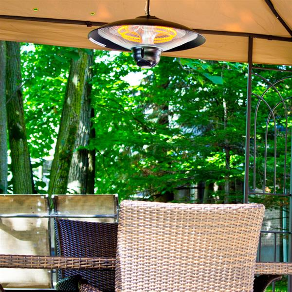 Chauffe-terrasse électrique EnerG+, Noir, 1500 watts