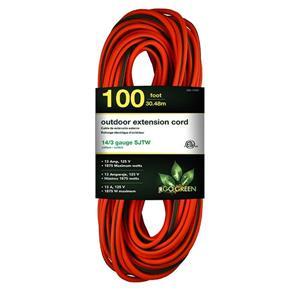 Outdoor Extension Cord - 14/3 SJTW-A - 100' - Orange