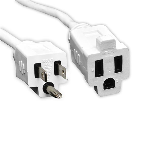 GoGreen Power Outdoor Extension Cord - 16/3 SJTW - 25' -  White