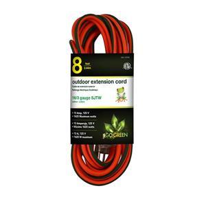Outdoor Extension Cord - 16/3 SJTW - 8' - Orange