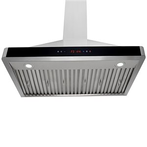 Turin Milita Wall Mounted Range Hood 30-in - 900 CFM