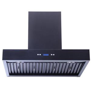 Turin Linosa Wall Mounted Range Hood 30-in - Black - 900 CFM