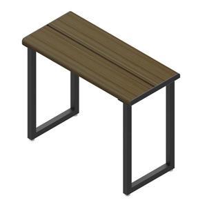"""Invisia Collection Shower Bench 24"""" - Matte Black - Ash Finish"""