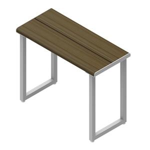 "Invisia Collection Shower Bench - 24"" - Powder Coat Grey - Ash Finish"