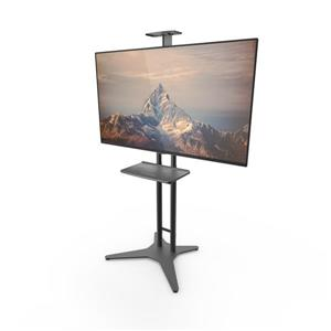Kanto TV Floor Stand with Steel Tray for 32 to 55-in TVs