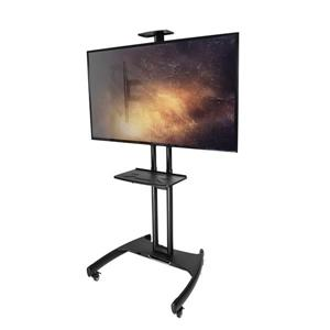 Kanto Mobile TV Stand with Steel Tray for 37 to 65-in TVs